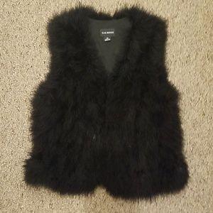 Club Monoco Black Feather Vest